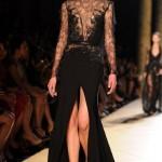 С чем носить длинное черное платье
