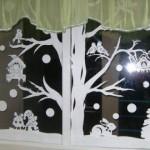 Украшения на окна под Новый год