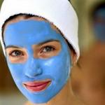 Маски с голубой глиной для проблемной кожи лица